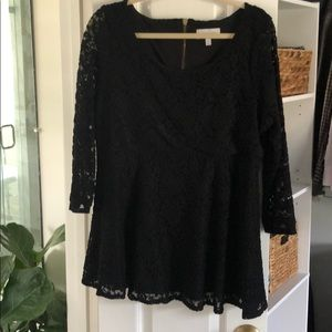 Jessica Simpson Maternity Peplum Black Lace Top